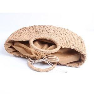 Ankarasbest Bags - Sale❤💕👜👒Handmade Straw Braided Circular Handbag